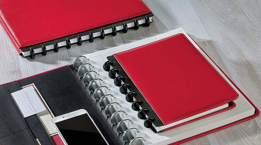 Slender profile is superior to bulky three-ring binders, yet holds just as much if not more