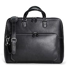 Majorca Expandable Laptop Bag - Leather Laptop Briefcase