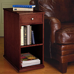 No-Room-for-a-Table™ Rolling Bookcase