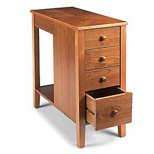 No Room for a Table Table™ With Drawers, Natural Cherry