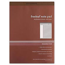Freeleaf White Annotation Grid Pads, Letter