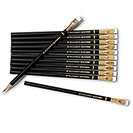 Palomino Blackwing Soft Pencils, Black Casing with White Erasers (Set of 12)