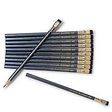 Palomino Blackwing 602 Firm Pencils, Pearl Gray Casing with Black Erasers (Set of 12)
