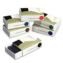 Levenger Ink Cartridges, Standard Six-Pack