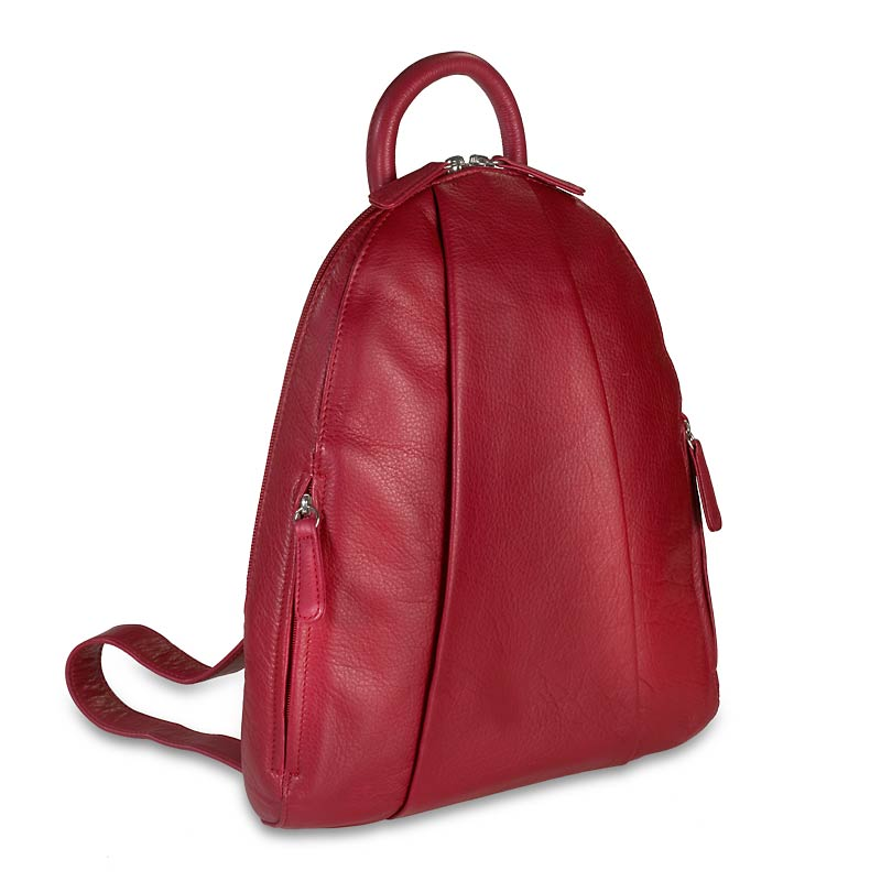 Marley Teardrop Multi Zip Backpack - Garnet