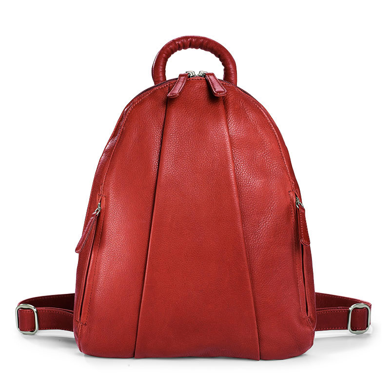 Marley Teardrop Multi-Zip Backpack, Red