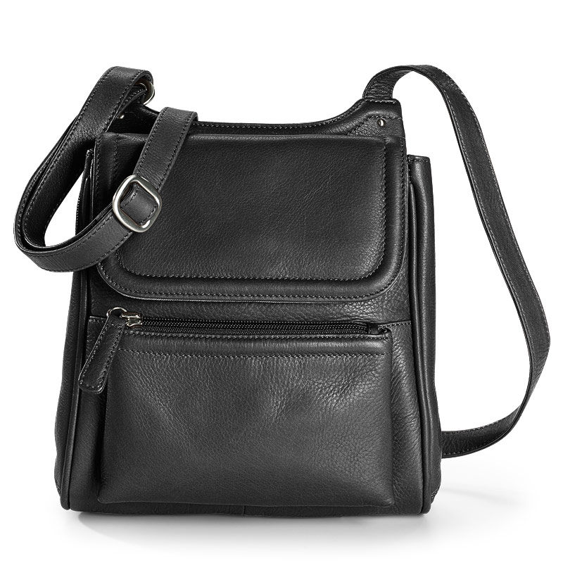 Marley Cross-Body Organizer, Black