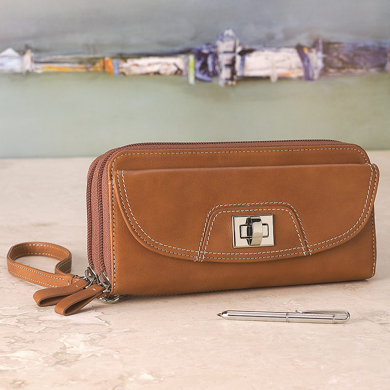 Raffinato Double Accordion Clutch with Walletini Pen