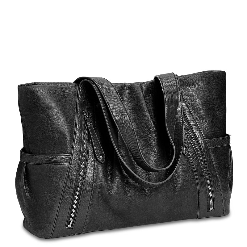 Carry My World™ Pleated Tote, Black