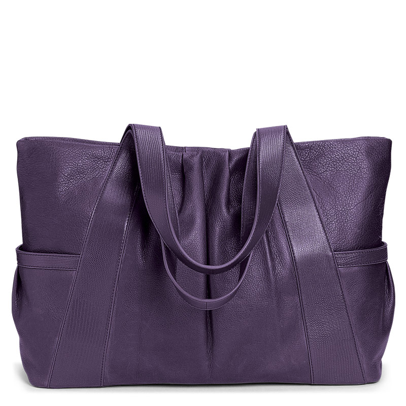 Carry My World™ Pleated Tote, Grape