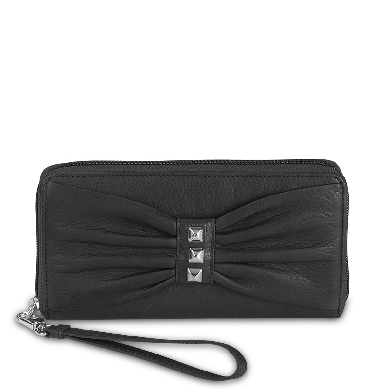 Carry My World™ Pleated Accordion Wallet, Black