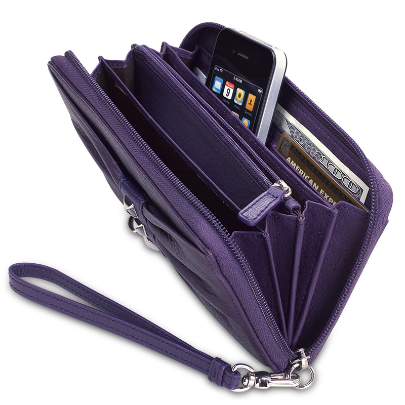 Carry My World™ Pleated Accordion Wallet, Grape