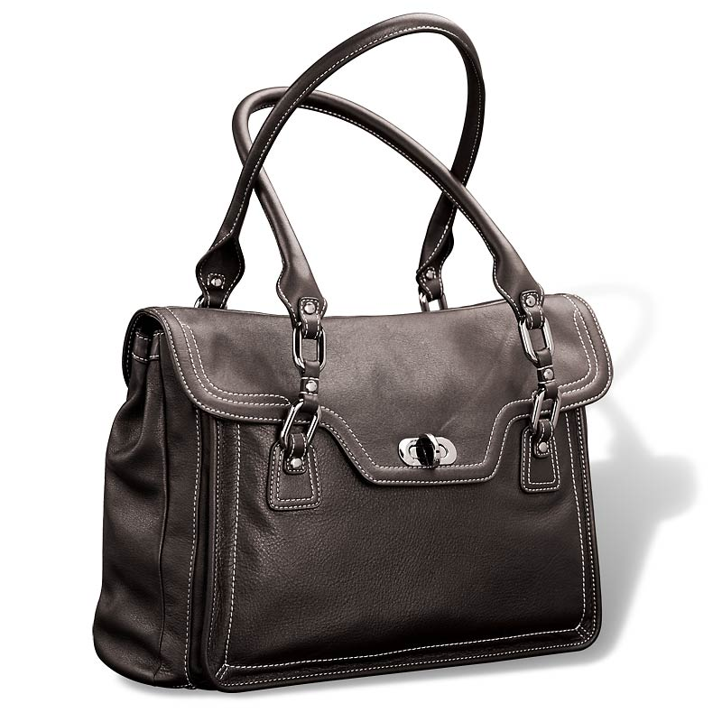 Carezza Workday Satchel, Black