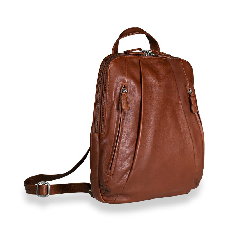 Compact Laptop Backpack, brown
