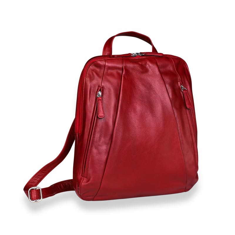 Compact Laptop Backpack,garnet