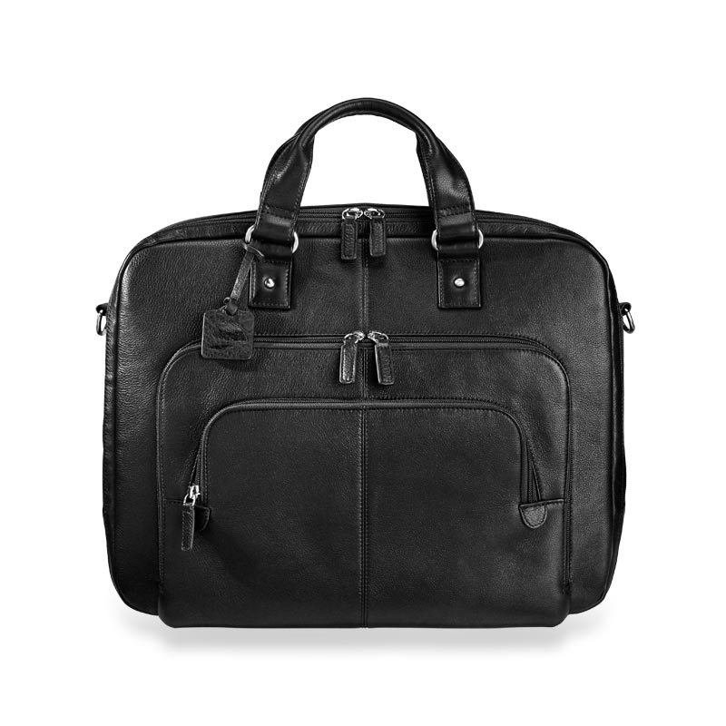 Triple-Zip Briefbag, Black