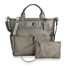 St. Tropez Tote w/Pouch - Pewter