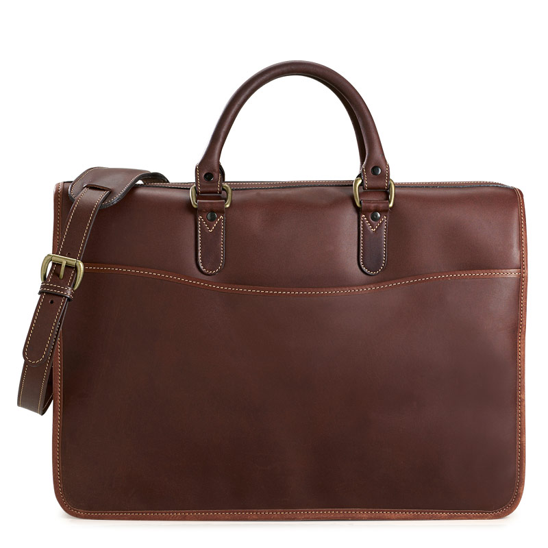 Cambridge Briefbag with Laptop Sleeve, Tobacco