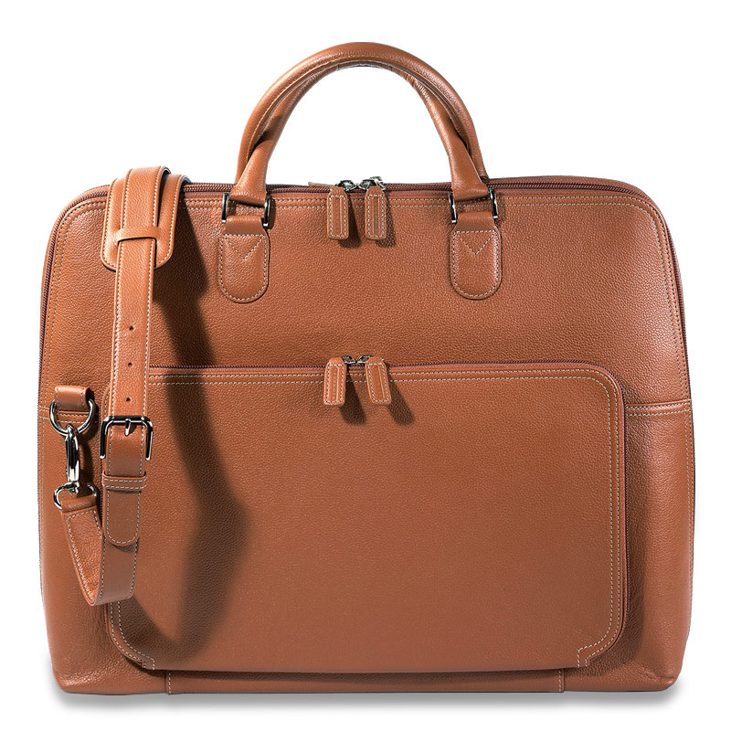 Majorca Expandable Laptop Bag, Saddle
