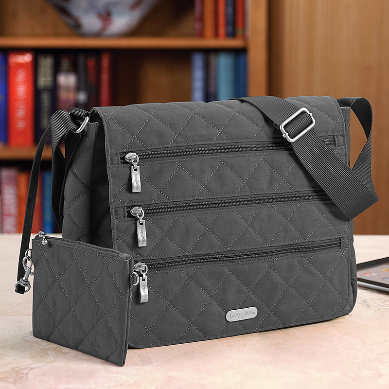 Baggallini Carry All Bagg, Charcoal