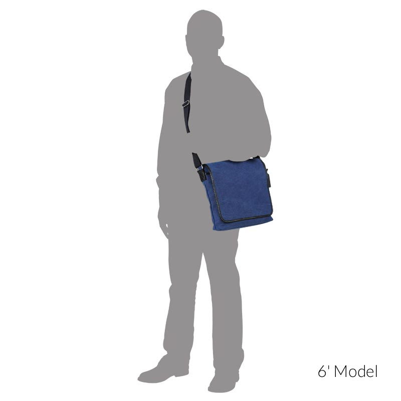 Levenger Metro Messenger, Dark Blue