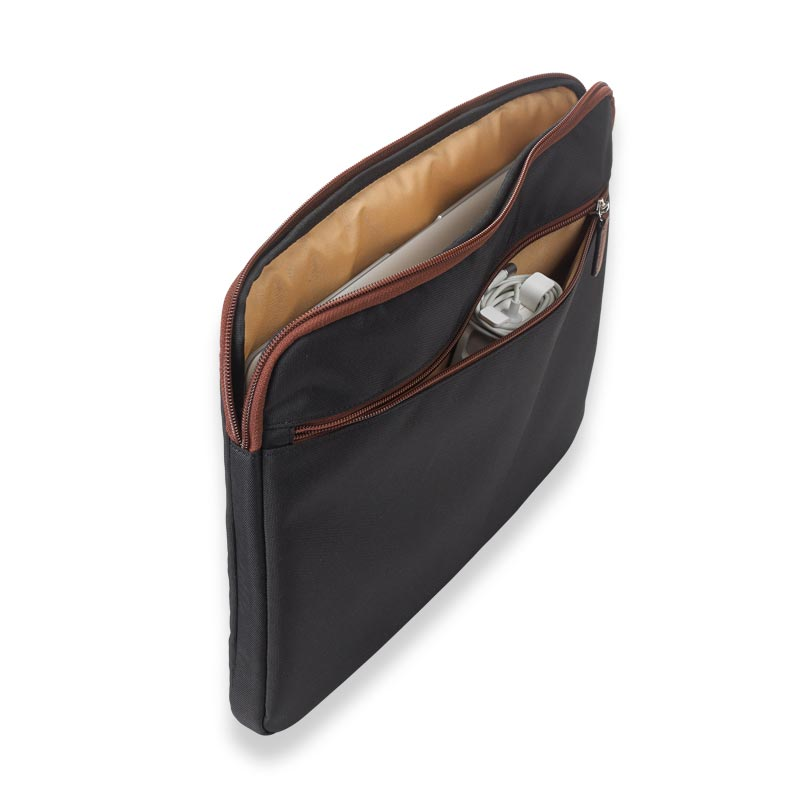 Your Bag, Your Way Laptop Sleeve, Black/Brown
