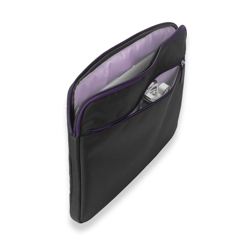 Your Bag, Your Way Laptop Sleeve, Black/Grape