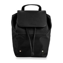 Felicity Foldable Backpack - Black/Black