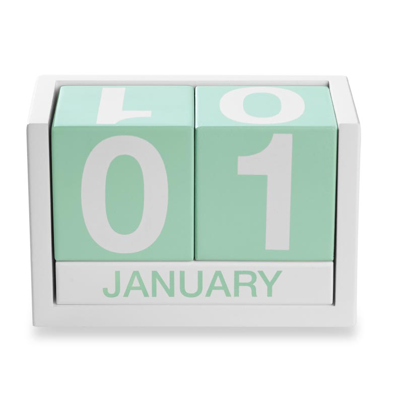 ThreeSixFive Desk Calendar, Mint