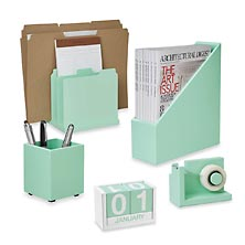 Simple Structure Desk Set (5 pieces), Mint