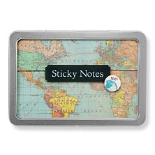 Vintage Sticky Notes, Maps