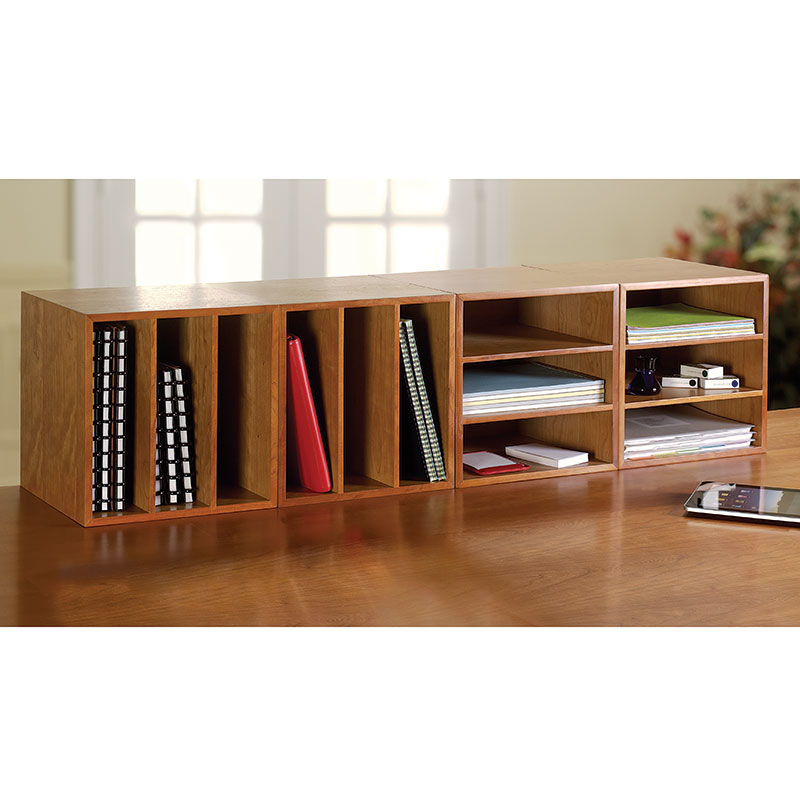 Cubi Desk Bookcase, Natural Cherry