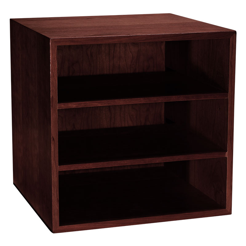 Cubi Desk Bookcase, Dark Cherry