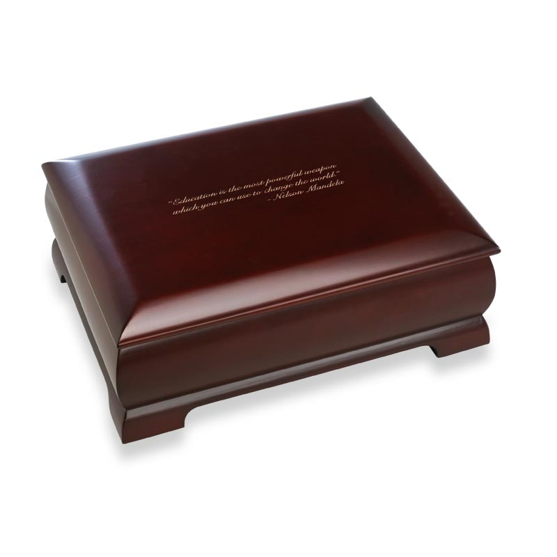 Dark Cherry Commemorative Box, Personal Message
