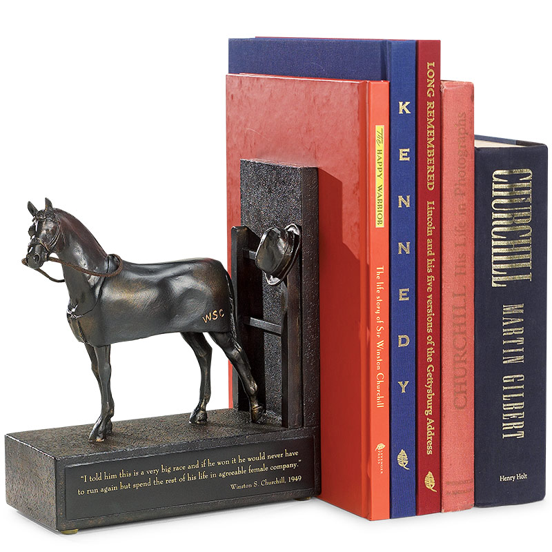 Churchill's Racehorse Bookend