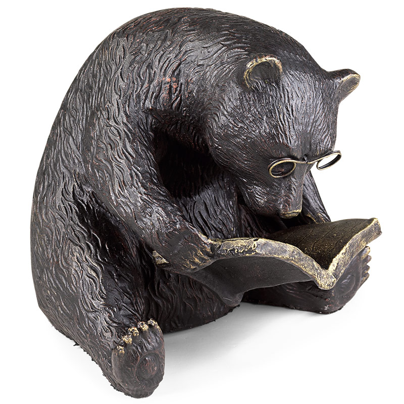 Reading Bear Bookend