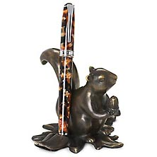 Bronze Squirrel Pen Stand