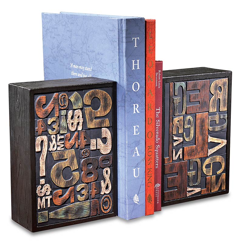 Printing Block Bookends