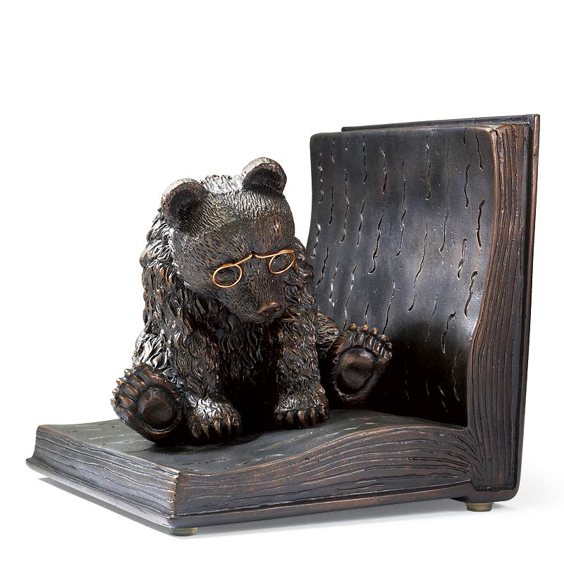 Reading Bear in a Book Bookend