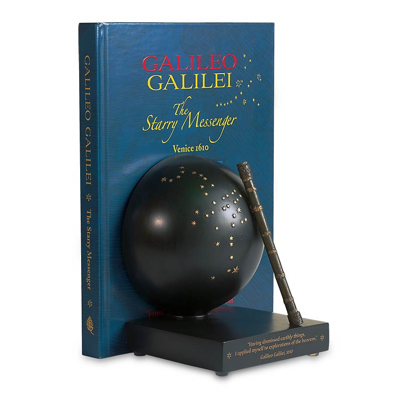 Galileo's Spyglass Bookend