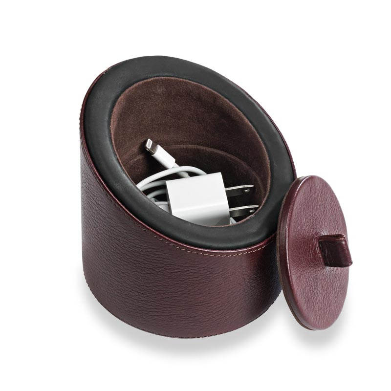 Bomber Electronic Cylinder, Oxblood Interior Compartment