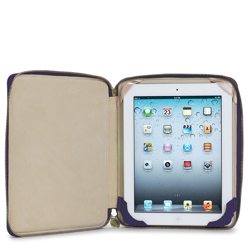 English iPad Stand, Purple