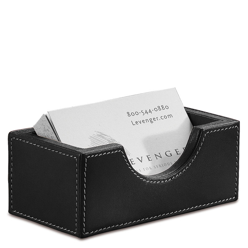 Morgan Business Card Holder, Black