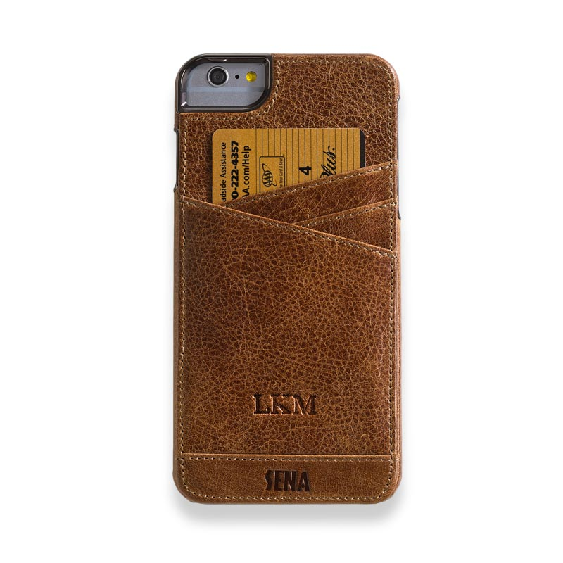 iPhone 6 Plus Lugano Wallet Cognac
