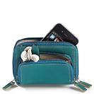 Pocquettes™ iPhone®/Earbud Case (Teal/Dune)