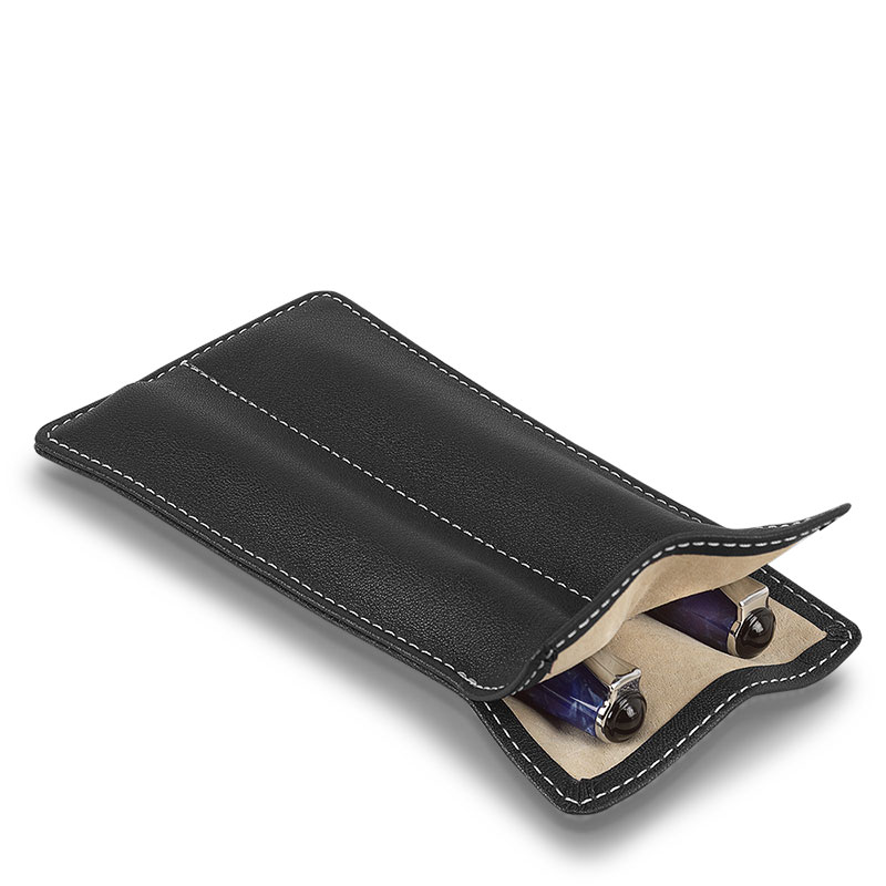 Carezza Double Pen Sleeve, Black