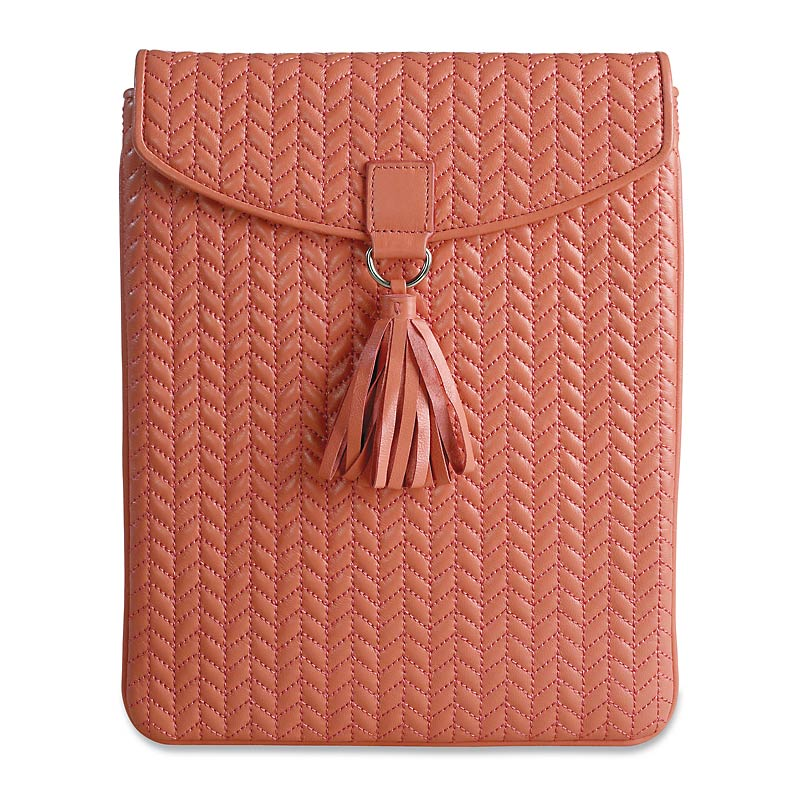 En Vogue Quilted iPad Envelope, Coral