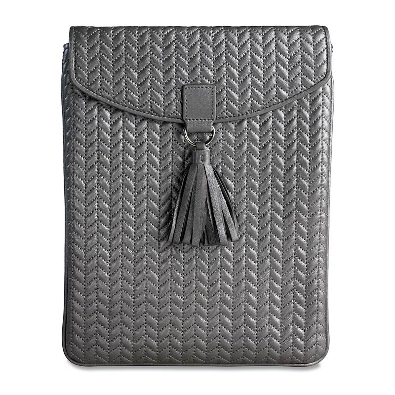 En Vogue Quilted iPad Envelope, Silver