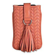 En Vogue Quilted iPhone Sleeve, Coral