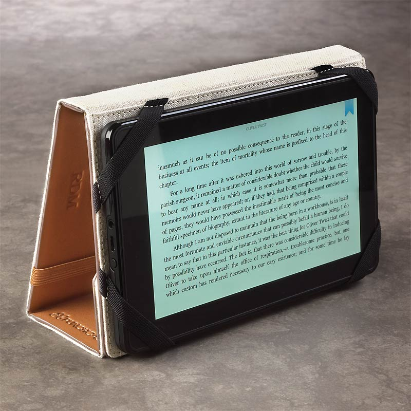 Levenger Kindle Fire Stand, Cognac